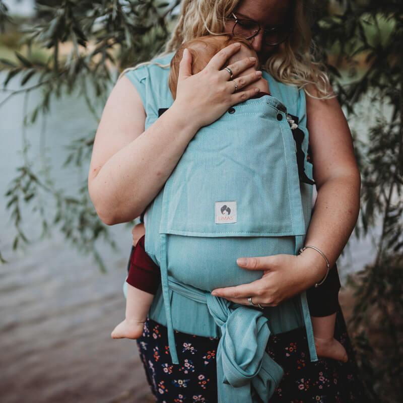 LIMAS Plus Baby Carrier Türkis