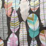Buzzidil BuzziTai Pink Feathers Mei Tai Detail