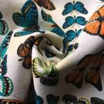 Buzzidil BuzziBu Butterflies Tragehilfe Stoffmuster