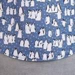 Fräulein Hübsch Mei Tai Pinguine Grau Meliert GT Babytrage Design