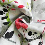 Buzzidil BuzziTai Panda Gray Mei Tai Babytrage Detail