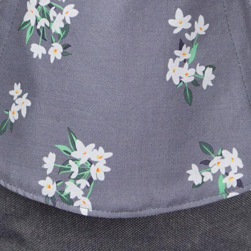 Fräulein Hübsch | Mei Tai | Blumen Dunkelgrau