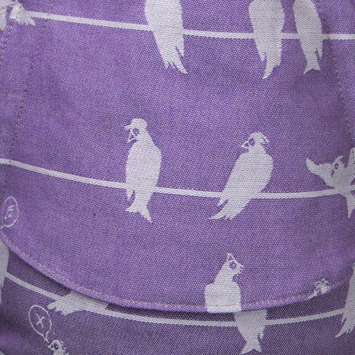 Fräulein Hübsch | Mei Tai | Birds on a Wire Lila SGT